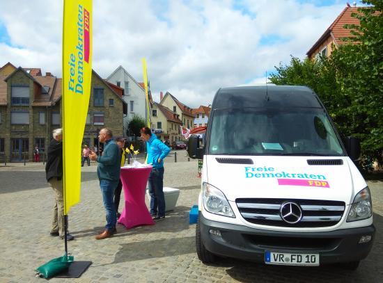 Tourstopp in Waren (Müritz)